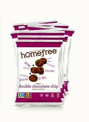 Homefree Mini Gluten Free Cookies 1oz - Double Chocolate Chip