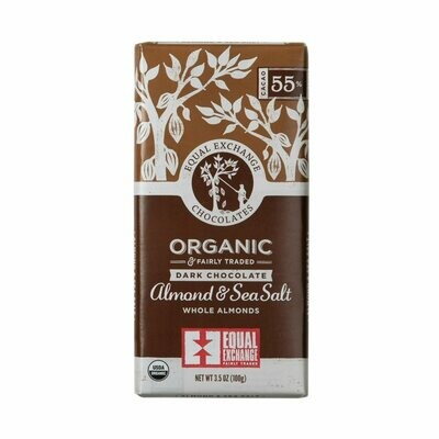 Equal Exchange Chocolate Bar - Dark Chocolate Almond & Sea Salt