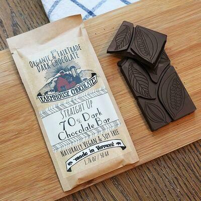 Farmhouse 70% Dark Chocolate Chocolate Bar