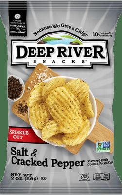 Deep River Potato Chips 2 oz. - Salt and Cracked Pepper