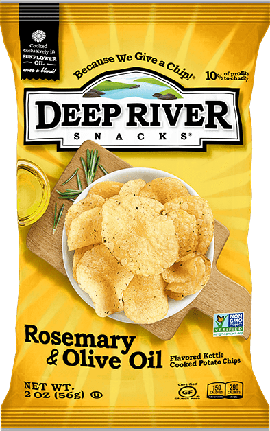 Deep River Potato Chips 5 oz. - Rosemary and Olive Oil