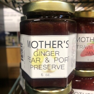 Mother's Ginger Pear Port Preserves