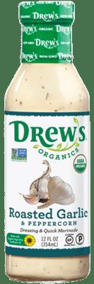 Drew's Organic Dressing - Roasted Garlic and Peppercorn