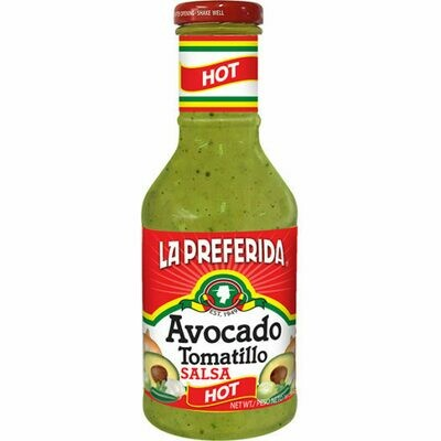 La Preferida Organic Hot Salsa - Avocado Tomatillo