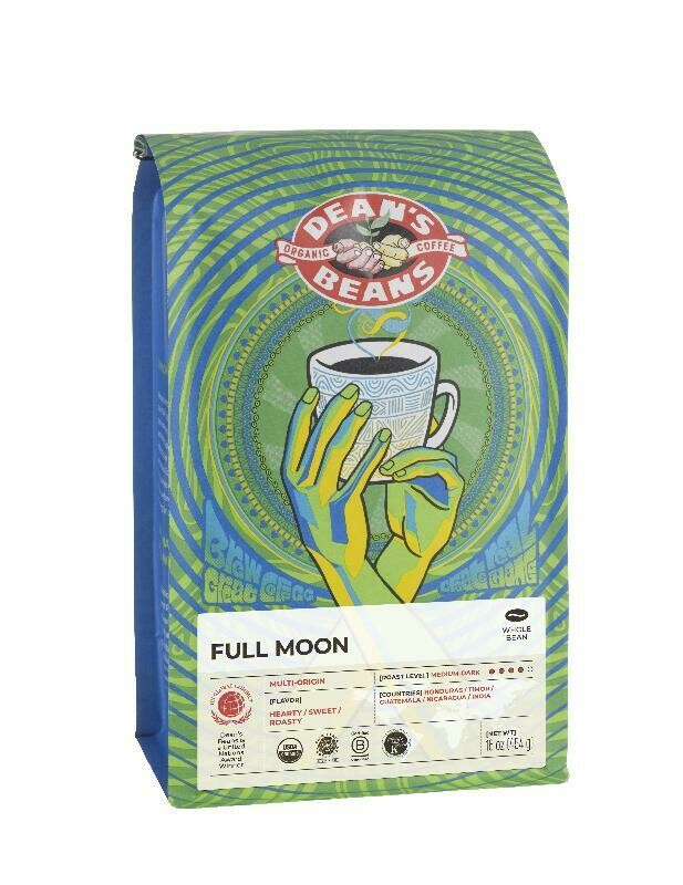 Dean's Beans Coffee - Full Moon (Medium/Dark, Whole Bean)