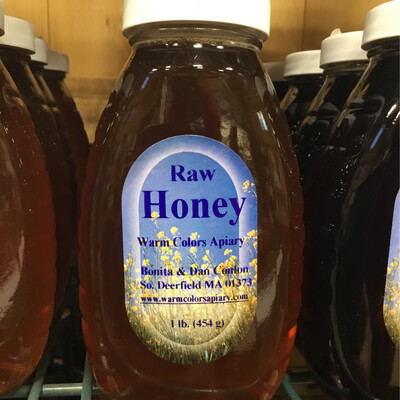 Warm Colors Apiary Raw Honey 1 lb. - Deerfield Wildflower