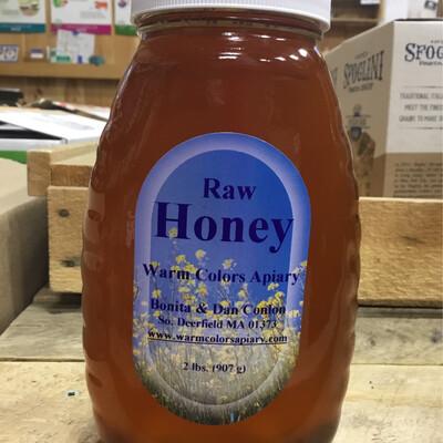 Warm Colors Apiary Raw Honey 2 lb. - Deerfield Wildflower