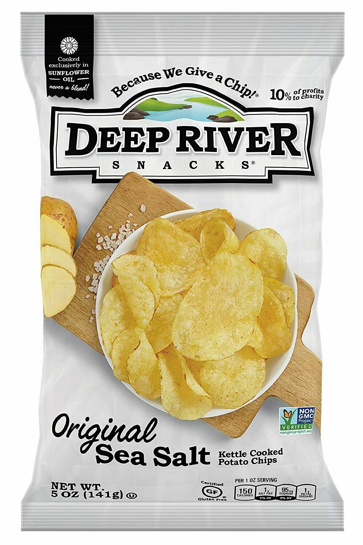 Deep River Potato Chips 2 oz. - Original Sea Salted