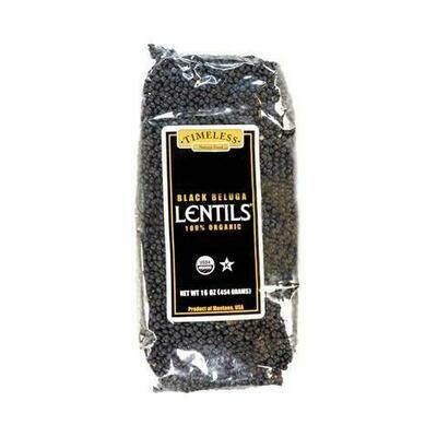 Timeless Organic Black Beluga Lentils