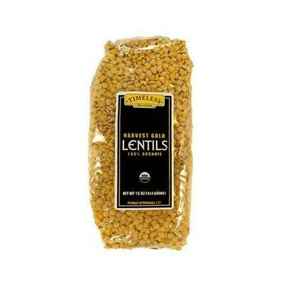 Timeless Organic Harvest Gold Lentils