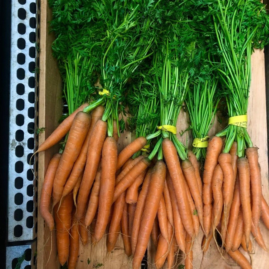 Carrots , Orange - Bunched * Riverland Farm