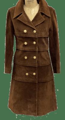 80s Vintage Suede Coat