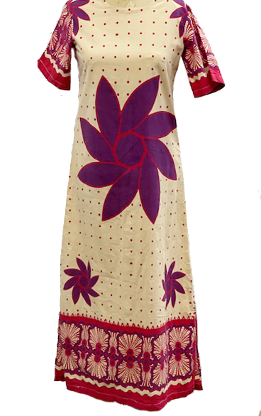 Indian printed cotton maxi dress size