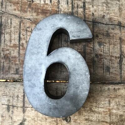 Numéro de maison en zinc - N°6