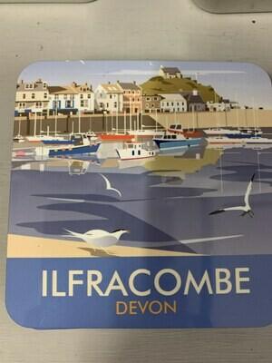 Ilfracombe cork backed coaster