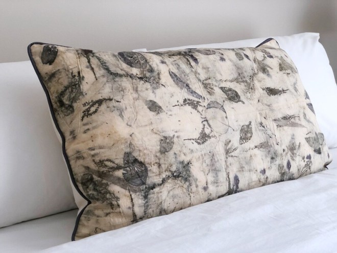 LL 2 Eco Printed Cotton Cushion Cover