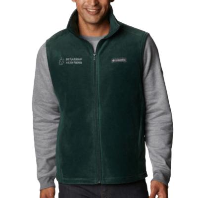 Branded Columbia Fleece Vest - Spruce