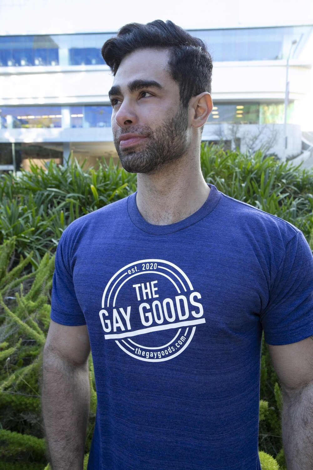 The Gay Goods Original - Inidgo Gxy T-Shirt