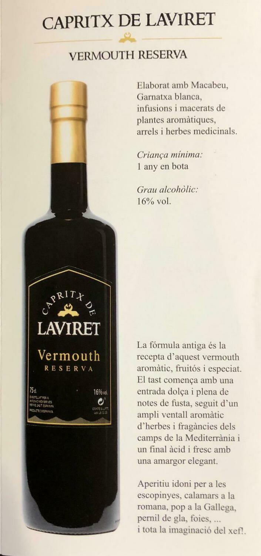 VERMOUTH LAVIRET (RESERVA)