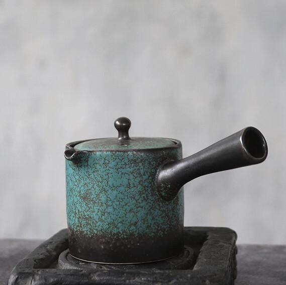 Kyusu Japanese Tea Pot for Green and Black Tea