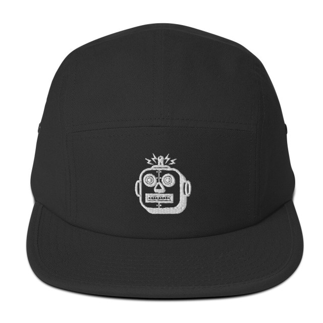SOPHFIFEST - Five Panel Cap (white robot embroidery only, no border)
