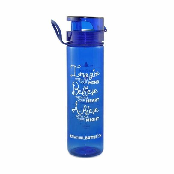 Blue Flip Lid Motivational Bottle®