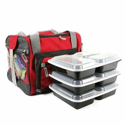 Red Motivational Meal Prep Bag®