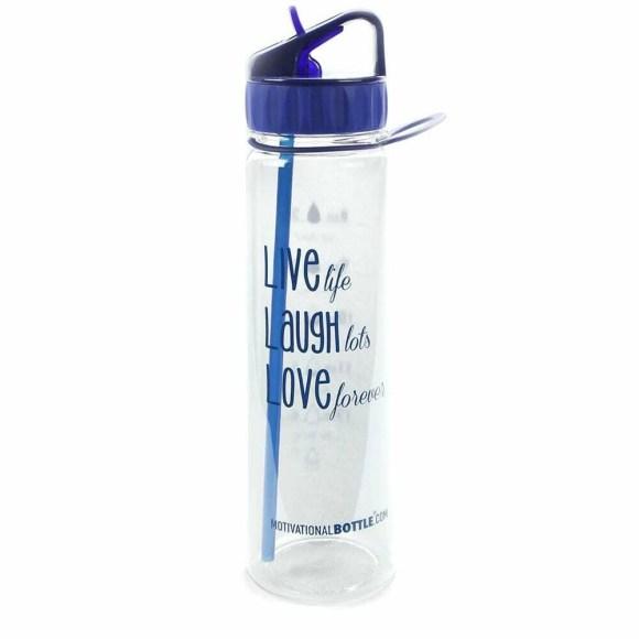 Blue Live Love Laugh Straw®