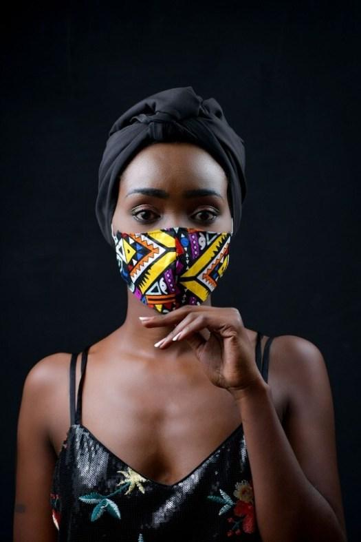 4 Pack Tribal Ladies Ankara Mask :: donation pack