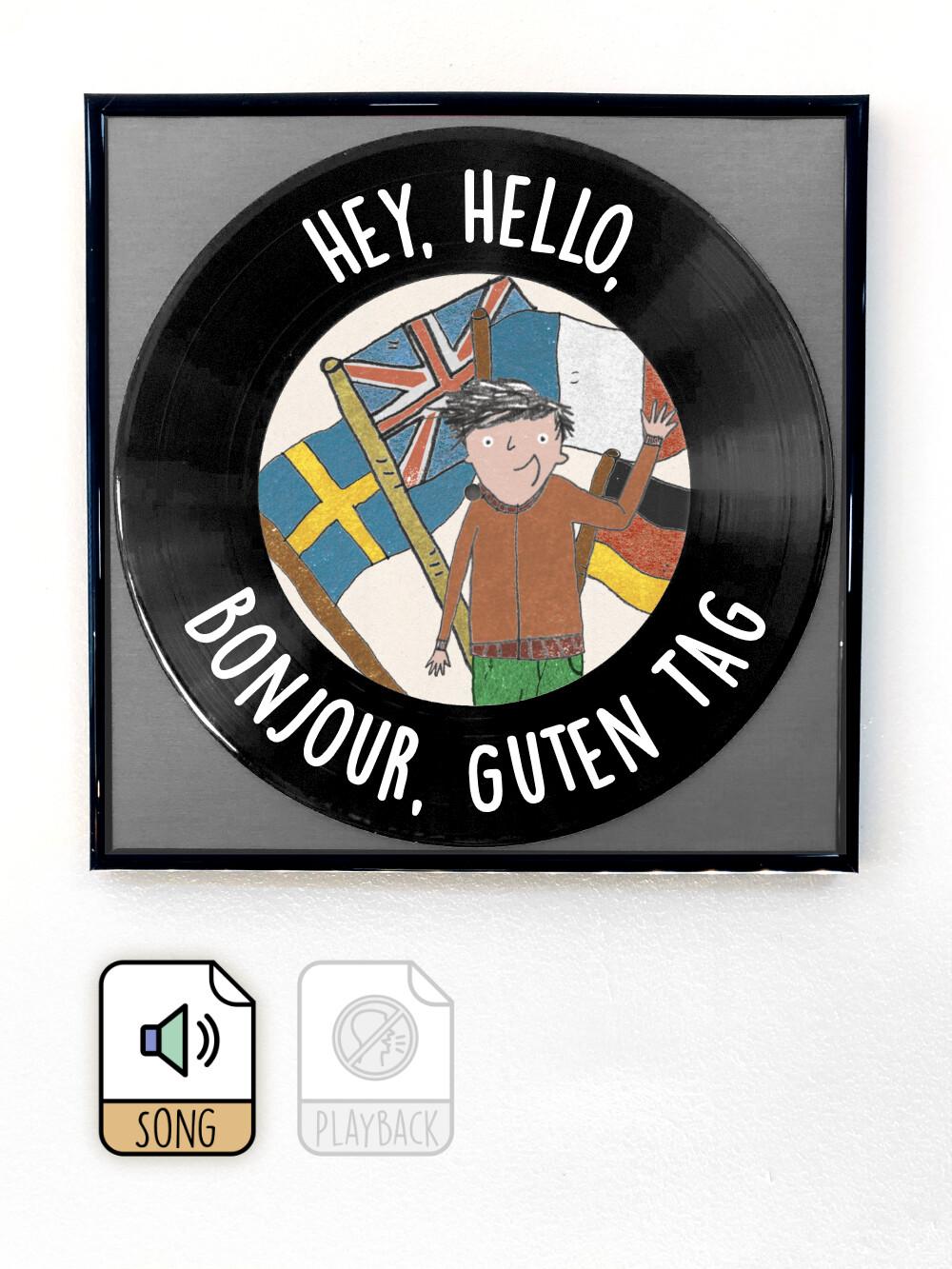 Hey Hello Bonjour Guten Tag