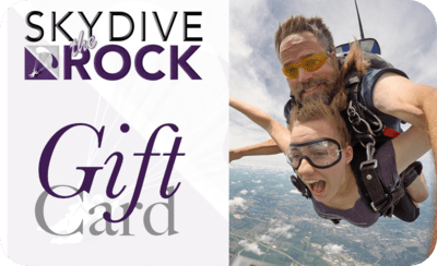 Skydive the Rock Gift Certificate