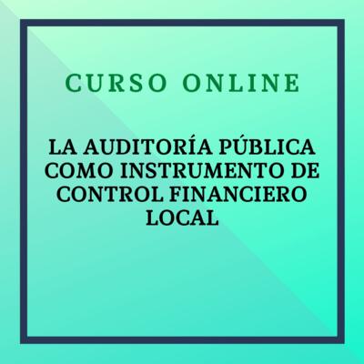 La Auditoría Pública como Instrumento de Control Financiero Local. 15 marzo - 9 mayo 2021