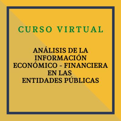 Jornada: Análisis de la Información Económico – Financiera en las Entidades Públicas. 20 de mayo de 2021