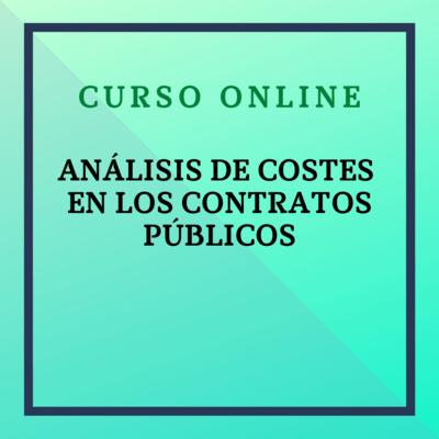 Análisis de costes en los contratos públicos. 4 - 31 de octubre de 2021