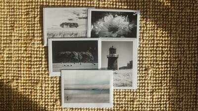 Selection of 5 Black and White Greeting Cards