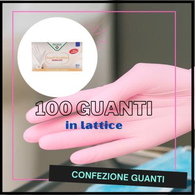 100 guanti in lattice con polvere - PROFAR