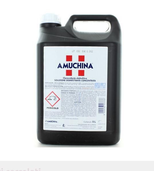 Amuchina, Soluzione Disinfettante Concentrata, Tanica 5 Lt