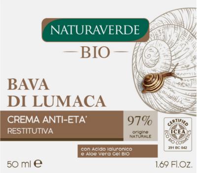 Bava di lumaca crema antietà restitutiva,Naturaverde bio, 50 ml