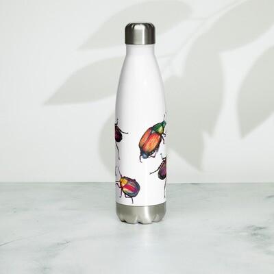 Stainless Steel Water Bottle - Funky Beetles