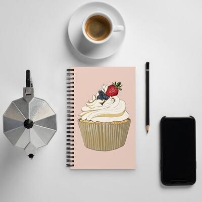 Spiral notebook - Summer Berries Cupcake