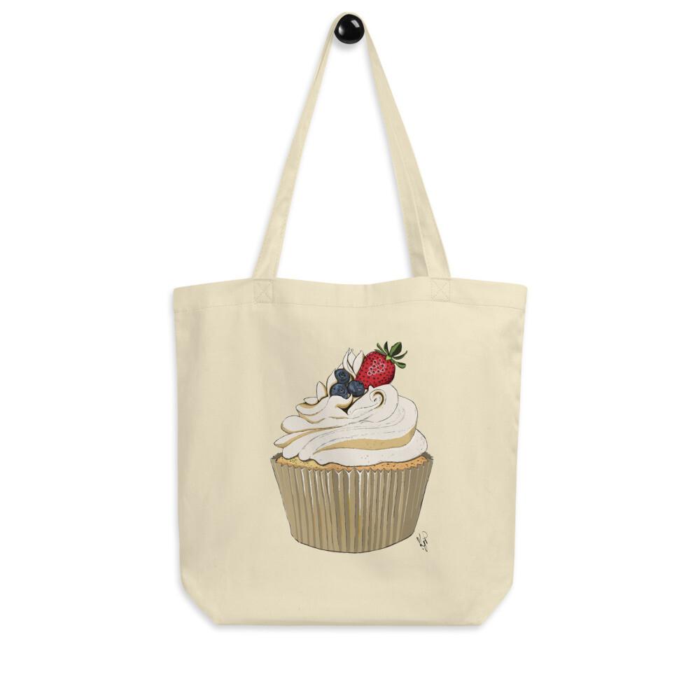 Eco Tote Bag - Summer Berries Cupcake Print