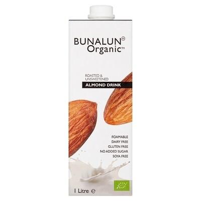 Bunalun Organic Almond Milk Unsweetened 1L