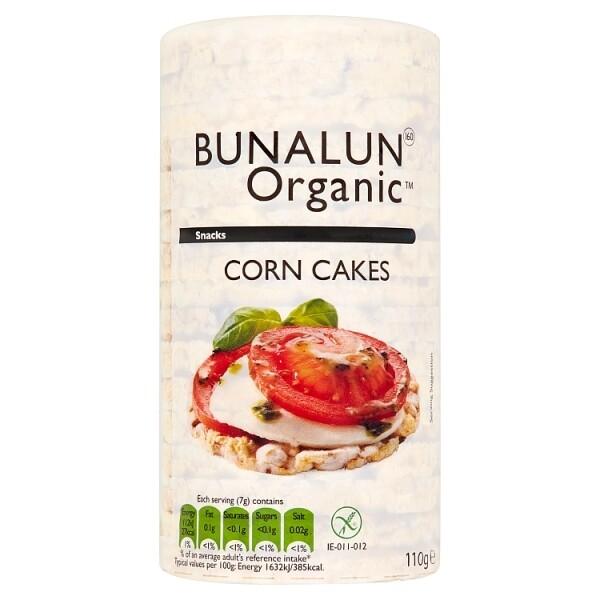 Bunalun Organic Corn Cakes 110g