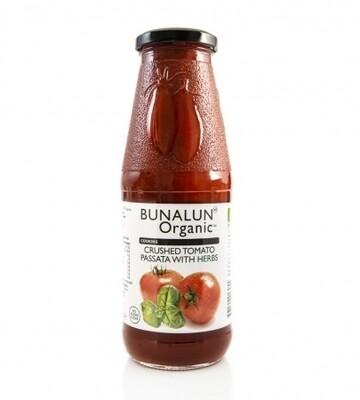 Bunalun Organic Tomato Passata With Herbs 680g