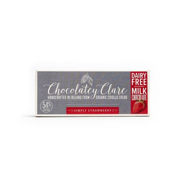 Chocolatey Clare Vegan Chocolate Simply Strawberry 40g