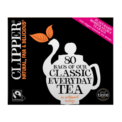 Clipper Everyday Tea 80 Bags Unbleached/ Plastic Free