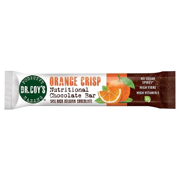 Dr Coys Orange Crisp Nutritional Chocolate Bar 35g