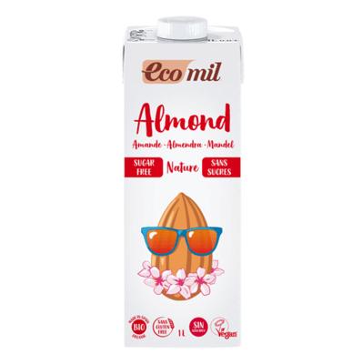 Ecomil Organic Almond Milk Sugar Free 1Lt