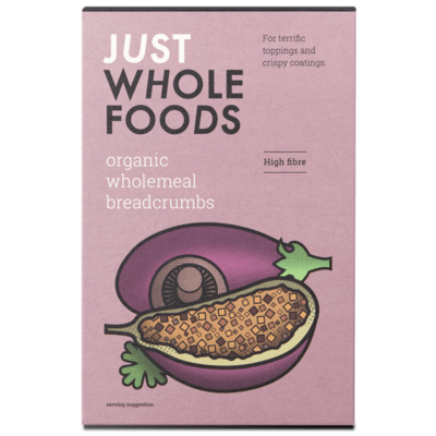 Just Wholefoods Organic Wholemeal Breadcrumbs 175g