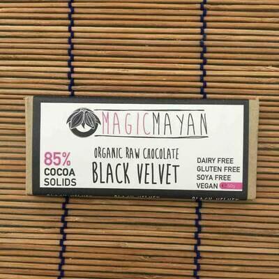 Magic Mayan Raw Organic Vegan Chocolate: Black Velvet 50g